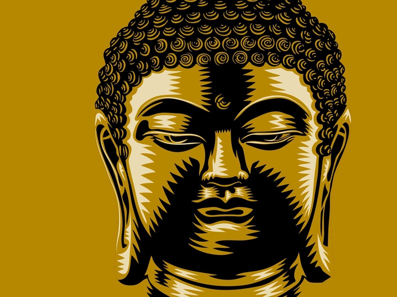 Buddha ipadpro buddha vector color illustration