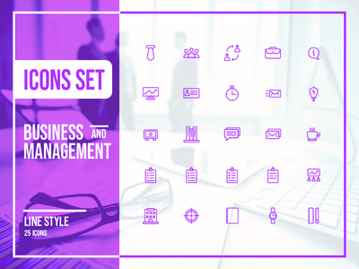 Icon Set - Business And Management line icons icon sets ui design user interface design user interface ui  ux design system icon icons set icon set ui icon icon app icons pack icons icon