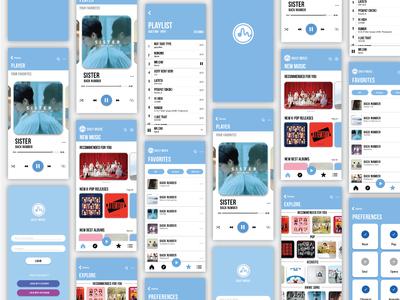 User Interface - Music Player App