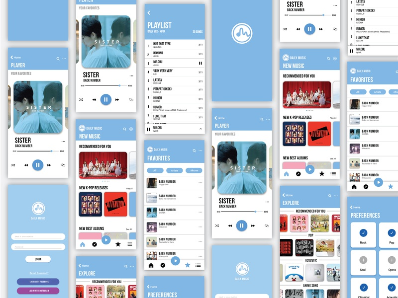 User Interface - Music Player App flat design icongraphy branding design app design user interface experience apps design app apps application app uiux design ux  ui music player ui music app user experience ui  ux design ui user interface design user interface ui design