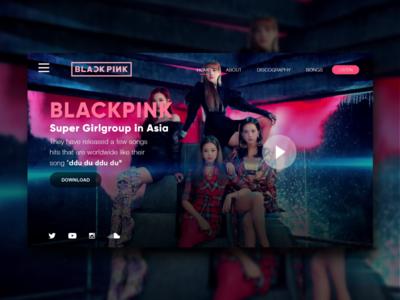 Blackpink - Landing Page