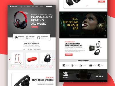 Web Landing Page Online Shop - Shockwave
