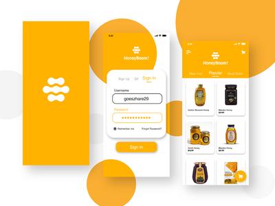 User Interface Design Mobile App - HoneyBoom!