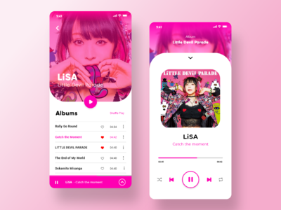 User Interface Design - Music Player App