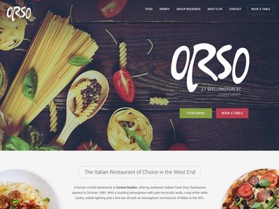 Orso Italian - Home page