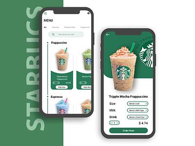 Starbucks app ui design uidesign mokeup photoshop xddesign starbucsappui appuidesign sketch branding ui design