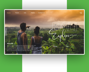 Website design for bali
