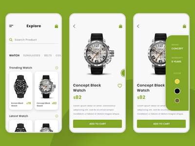 Watch App UI _ iOS dollar cost colours product details product app watercolor models watch icon ux logo adobe design photoshop illustration colour adobexd ui