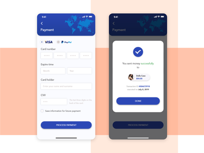 Payment Screen _ iOS _ Redesign status payment mode successful cvv debit card credit card card payment mobile ios adobe app design photoshop illustration colour adobexd ui
