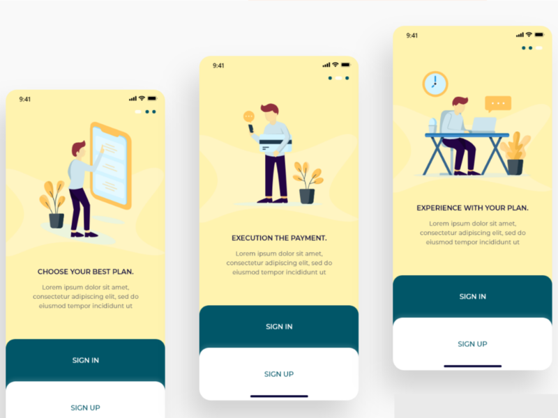 SIGN IN _ ILLUSTRATIONS _ iOS