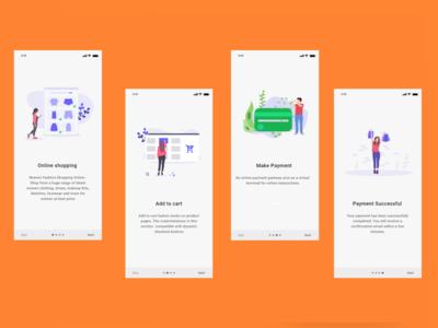 Walkthrough Screen _Shopping App