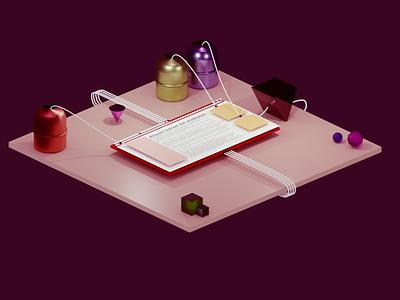 Ad blocker branding background sci-fi design web it decoration adblocker blog colorful blender 3d