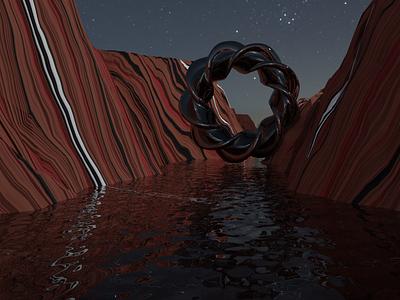 Alien canyon blender 3d