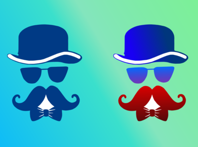 Man with Moustache Illustration