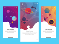 Space Learn App - Walkthrough Screens