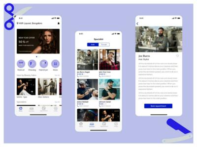 Main Screen - Salon App
