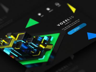 Voxel 3D web 3d voxel webdesign