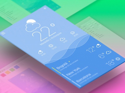 Weather App Concept ux ui app weather