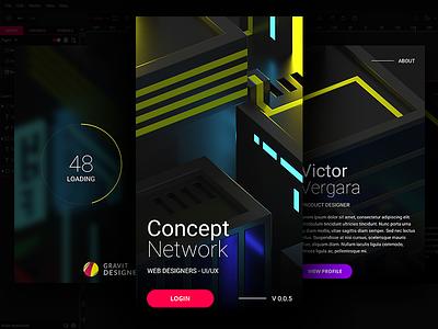 Concept network voxel webdesign concent gravit designer ux ui
