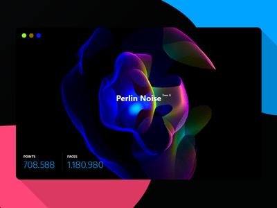 Perlin Noise Experiment webgl threejs html5 experimental red dark daily canvas