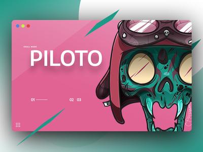 Piloto - Skullmode skull design illustration daily concept ui