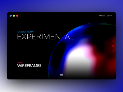 Shader Moon html5 experimental dark canvas ux threejs ui