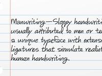 Manwriting Typeface