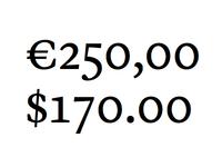 Serif Numbers