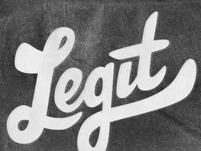 Going legitimate with Mr. Henry lettering typography type design