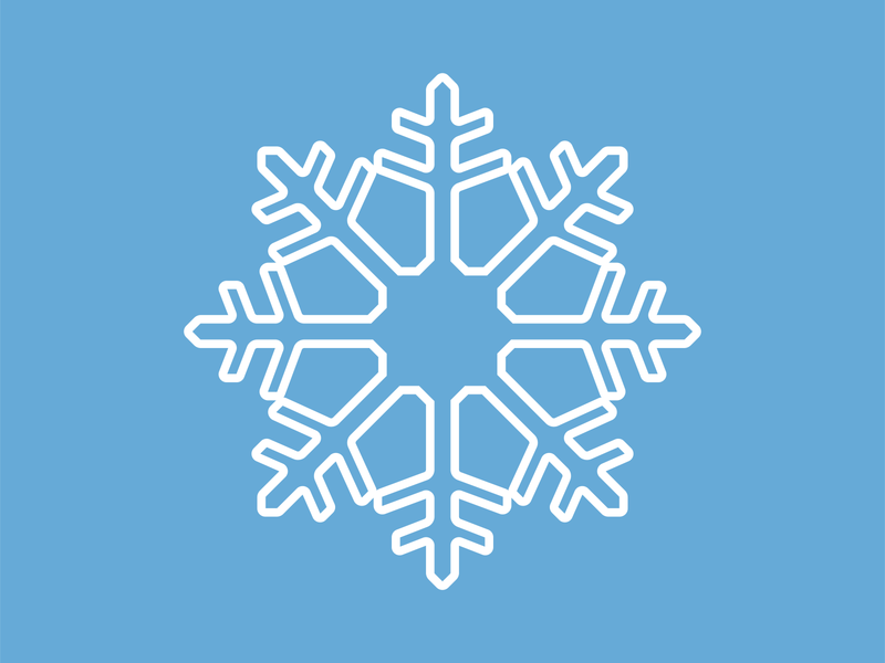 Snowflake flat snow winter snowflake llustrator vector illustration