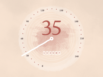 Handmade Speedometer Concept