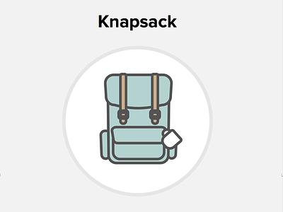 Knapsack coffee line art illustration knapsack