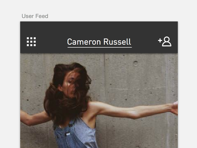 User Feed iphone follow feed