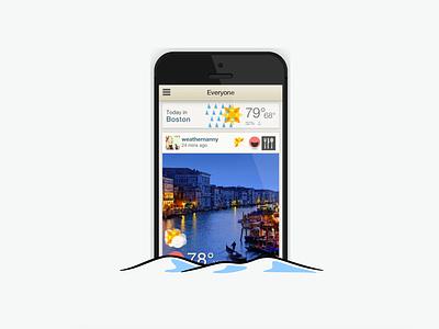 Happy Holidays! ui weather snow flat iphone ios app