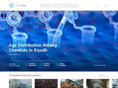 Jobs KSA - Home homepage editorial data viz product design design data
