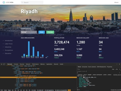 Inspect data data-viz dashboard frontend code design