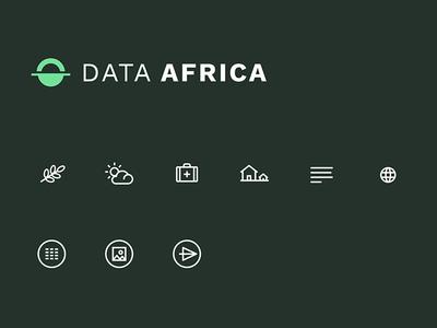 Data Africa Icons minimal svg vector data viz africa data icons icon