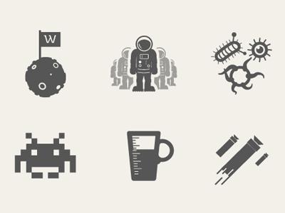 Werkpress Icons werkpress icons space invaders nerf coffee