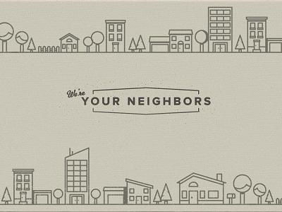 Friendly Neighborhood illustration neighborhood friendly nostalgic