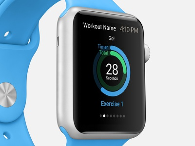EsyFit - Fitness App Template track design ui fitness workout health iphone ipad apple watch tvos apple tv