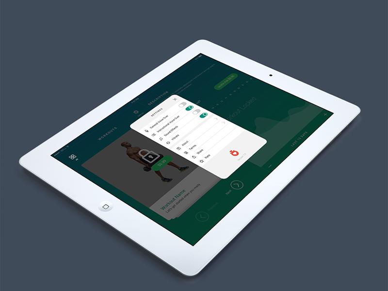 Fitness App Maker flat ios design ui ux app fitness