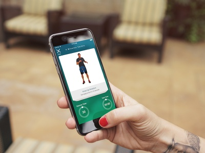 Supporting iPhone 7 / iOS10 flat app ios ux ui map personal trainer tracker fitness