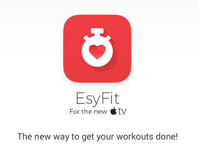 EsyFit - The new way to get your workouts Done! ui iphone app vector illustration tvos flat icon apple tv