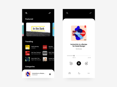 Podcast Player Concept