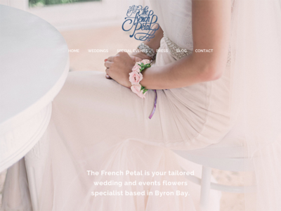 The French Petal Website flowers florist wedding branding website
