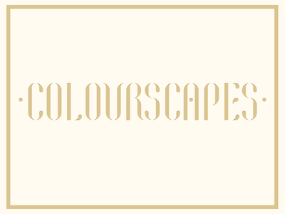 Colourscapes Branding design custom typeface art deco art nouveau gold antique branding