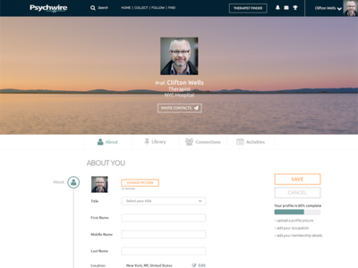 Edit profile ios flat profile design social network ux ui
