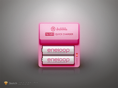 Dribbble Charger by Sketch