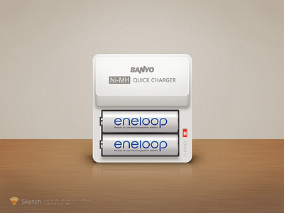 Sanyo Eneloop by Sketch draw dribbble charger sketch eneloop sanyo panasonic battery