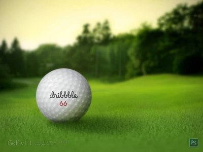 Golf by Photoshop golf draw ball